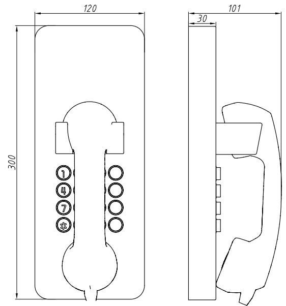 Drawing Telefono Antivandalico JR205-FK