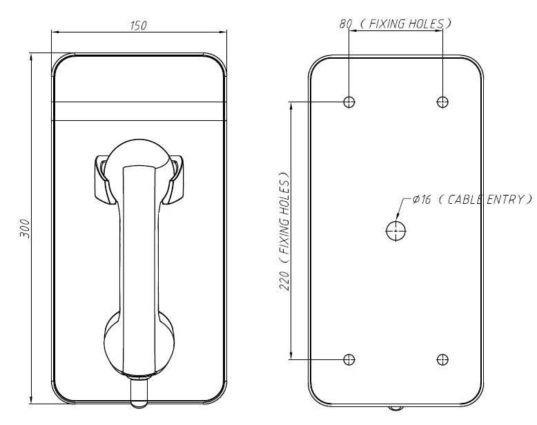 Drawing JR211-FK Telefono Antivandalico Vozell