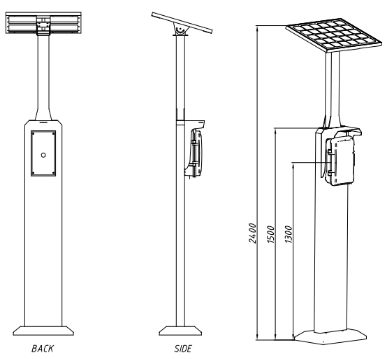 JR-TP-03 Torre para Telefono de Emergencia Vozell
