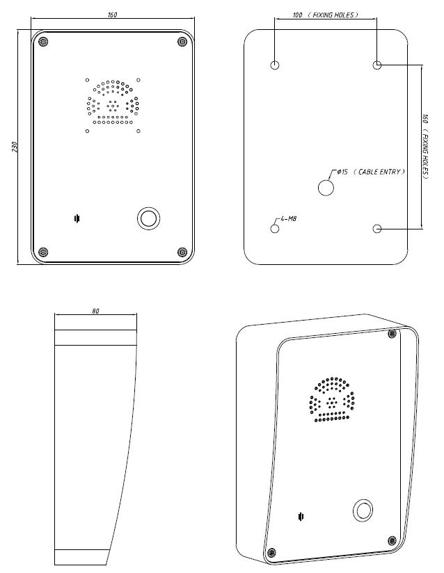 JR305-SC Telefono para Exterior de Emergencia