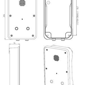 Drawing Telefono industrial JR104-2B