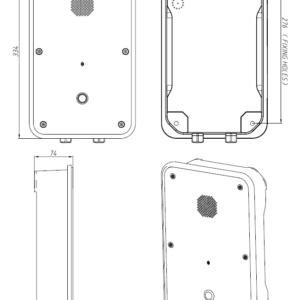 Drawing Telefono Industrial JR104-SC