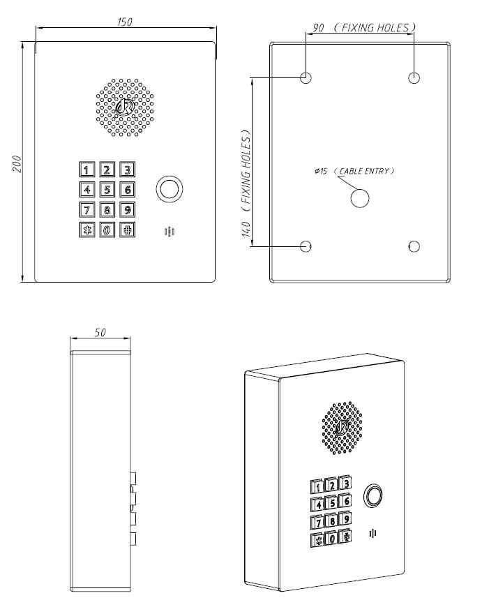 JR308-FK Telefono SIP de Emergencia
