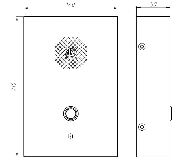 Vozell JR302-SC Telefono de Emergencia