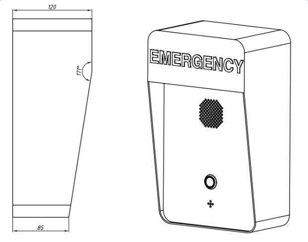 Telefono Antivandalico de Emergencia Vozell JR306-SC