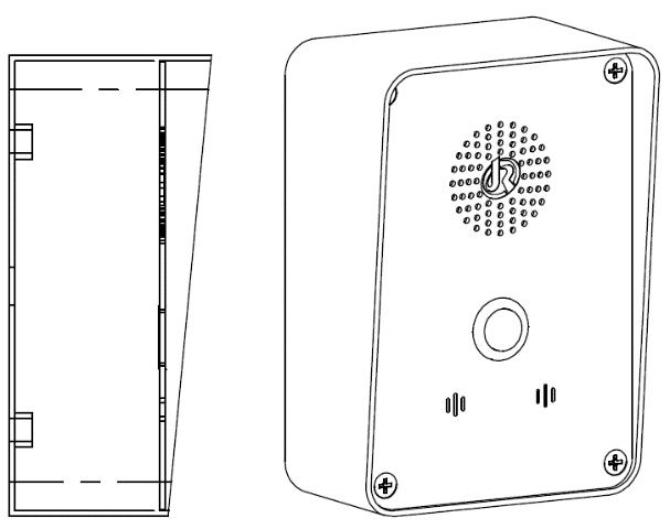 JR304-SC Telefono de emergencia Instalacion Sencilla