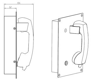 Drawing JR208-CB Telefono Antivandalico Vozell